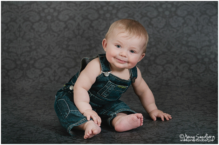 Babyfotograf Lund, Babyfotografering studio, 6 månaders foto